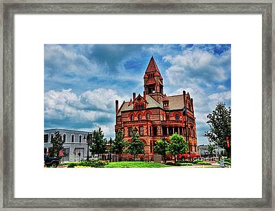Sulphur Springs Courthouse Framed Print by Diana Mary Sharpton