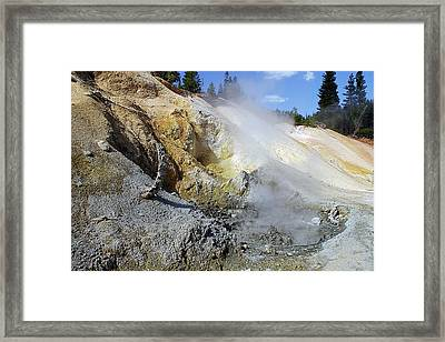 Sulphur Works - Lassen Volcanic National Park Framed Print by Christine Till