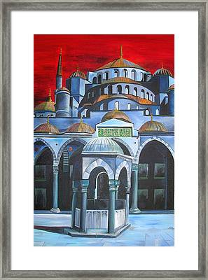 Sultan Ahmed Mosque Istanbul Framed Print