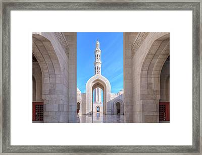 Sultan Qaboos Grand Mosque - Oman Framed Print by Joana Kruse