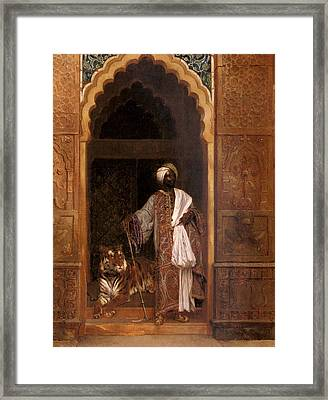 Sultan With Tiger Framed Print