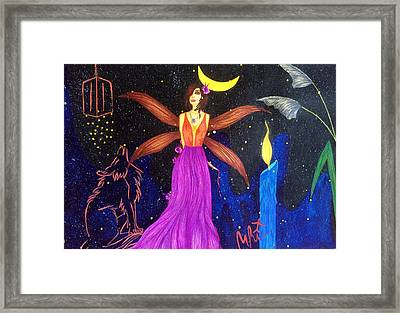 Sultana-the Enigmatic Guardian Spirit. Framed Print