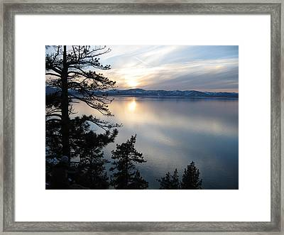 Sultery Mountain Sunset Framed Print by Sue Ann Rybarczyk