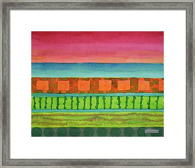 Sultry Day At The Seaside  Framed Print
