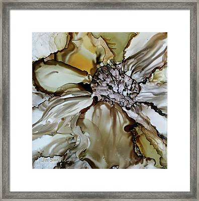 Framed Print featuring the painting Sultry Petals by Joanne Smoley
