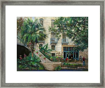 Sultry San Antonio Framed Print by Carole Haslock