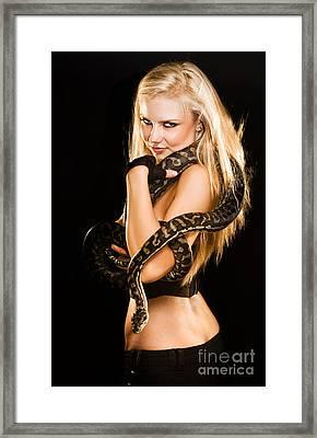 Sultry Sedutive Snake Dancer Framed Print by Jorgo Photography - Wall Art Gallery