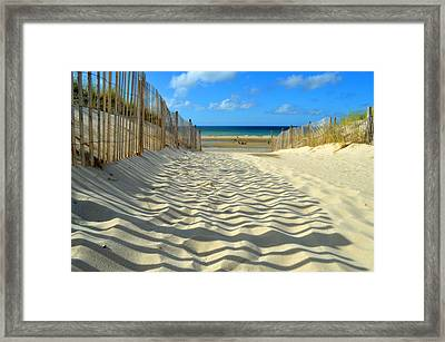 Sultry September Beach Framed Print