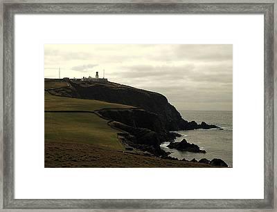 Sumburgh Head Lighthouse Framed Print by HweeYen Ong