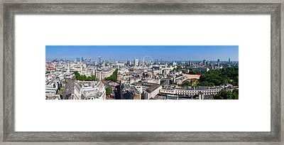 Sumer Panorama Of London Framed Print