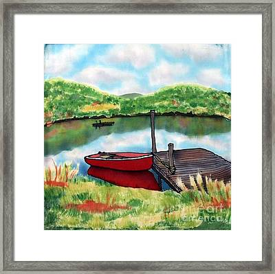 Sumer Reflections Framed Print by Linda Marcille