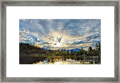 Sumer Solstice Sunrise Framed Print