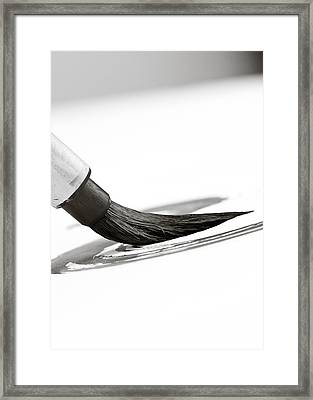 Sumi-e Brush Framed Print by Edward Myers