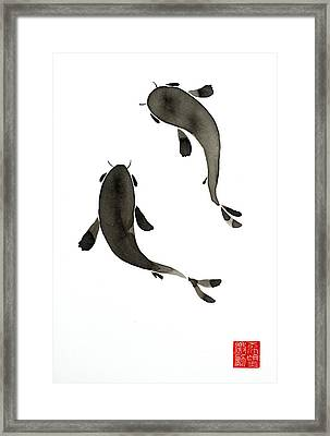 Sumi-e - Koi - One Framed Print