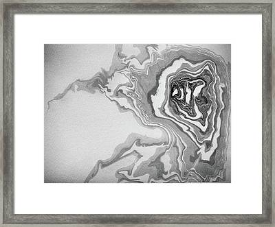 suminagashi No.1 Framed Print by Tom Druin