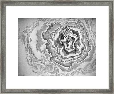 suminagashi No.3 Framed Print by Tom Druin
