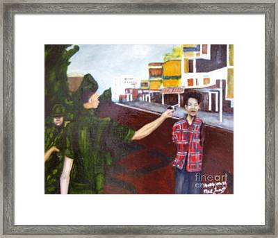 Summary Execution Framed Print by Neil Trapp