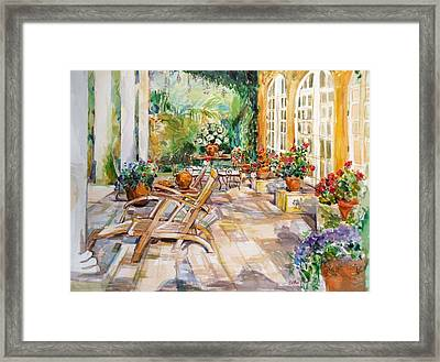 Framed Print featuring the painting Summer 1 by Becky Kim