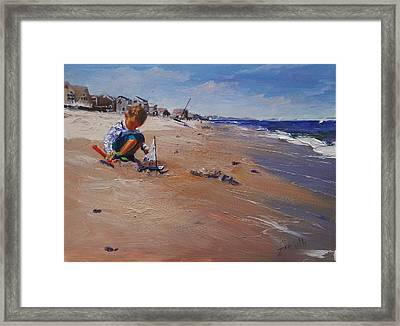 Framed Print featuring the painting Summer 2016 by Laura Lee Zanghetti
