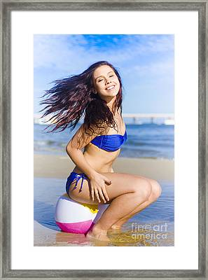 Summer Action Fun Framed Print