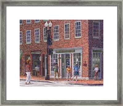 Summer Afternoon On M Street Framed Print