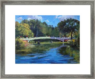 Summer Afternoon On The Lake, Central Park Framed Print