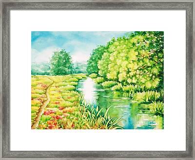 Summer Along The Creek Framed Print
