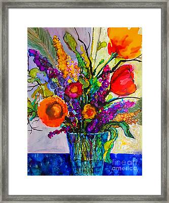 Framed Print featuring the painting Summer Arrangement by Priti Lathia