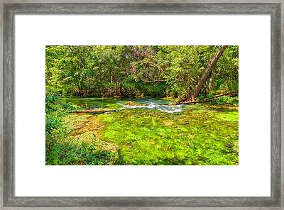 Summer At Alley Springs Framed Print by John M Bailey