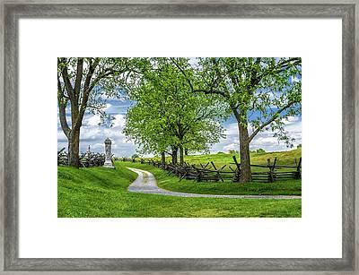 Framed Print featuring the photograph Summer At Antietam National Battlefield by Lori Coleman