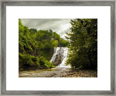 Summer At Ithaca Falls Framed Print
