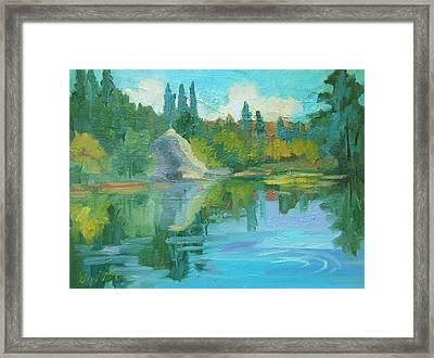 Summer At Lake Fulmor Framed Print