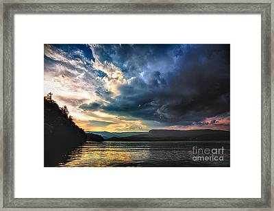 Summer At Lake James Framed Print