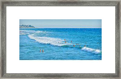 Summer At San Clemente Beach Framed Print