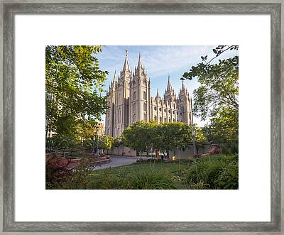 Summer At Temple Square Framed Print