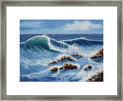 Summer At The Beach Framed Print by Lorraine Foster