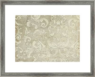 Summer At The Cottage - Vintage Style Wooden Scroll Flourishes Framed Print by Audrey Jeanne Roberts