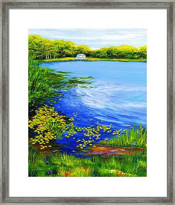 Summer At The Lake Framed Print by Anne Marie Brown