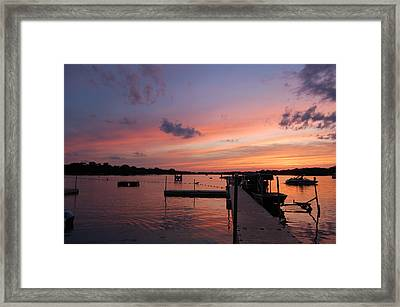 Summer At The Lake Framed Print by Daniel Ness