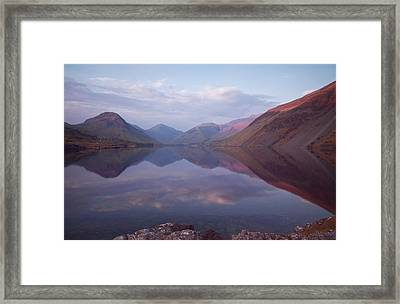 Summer At Wastwater In Cumbria Framed Print by Pete Hemington