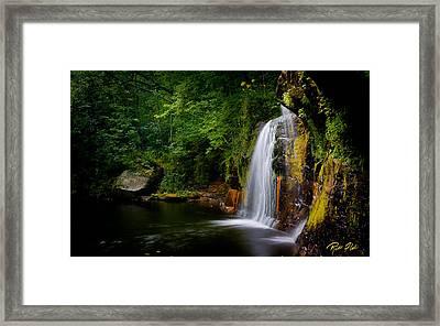 Summer At Wolf Creek Falls Framed Print