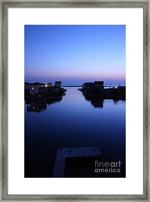 Framed Print featuring the photograph Summer Avon Evening by Tony Cooper