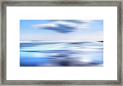 Summer Beach Blues Framed Print