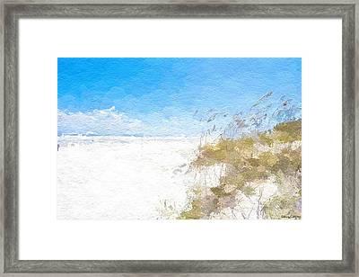 Summer Beach Dunes Framed Print