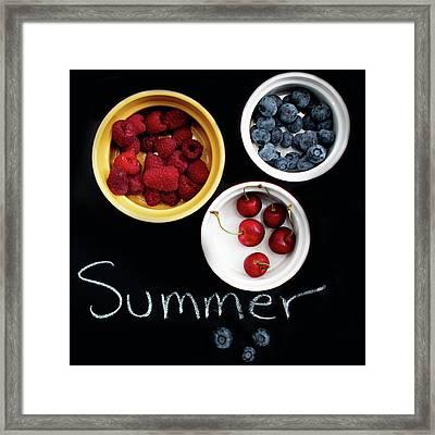 Summer Berries Framed Print