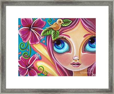 Summer Bliss Fairy Framed Print by Jaz Higgins