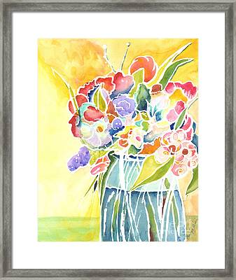 Summer Blooms Framed Print by Carolyn Weir