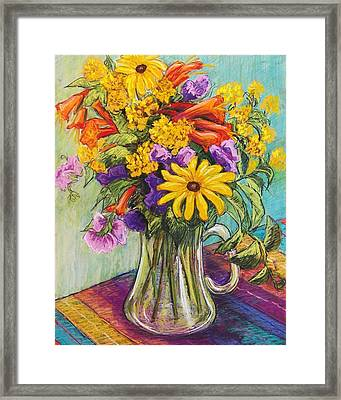 Summer Bouquet Framed Print by Candy Mayer