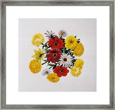 Summer Bouquet Framed Print by Dy Witt
