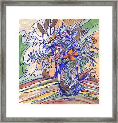 Summer Bouquet Framed Print by Helen Pisarek